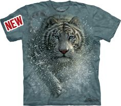 Wet & Wild Tiger « Epic Shirts - I love this tshirt. Very beautiful design and the tiger is just ferocious coming right for you. It looks like a product that costs a lot more than 20$. A quick tip for skinny girls (130 pounds / 5'6), kids large is actually the best size rather than mens small. Would definitely buy products here again.