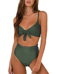 Delicious Zip Brazilian Sexy High Waist Bikini Swimsuit Women Push Up High Waist Bikini Set High Leg Swimwear Female Padded Bathing Suit Sports & Entertainment
