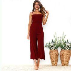 Bright Fashion Summer Club Jumpsuits Bodycon Long Section Women Jumpsuit 2019 Women Red Black Flounce Bandage Chiffon Jumpsuit Elegant And Graceful Women's Clothing