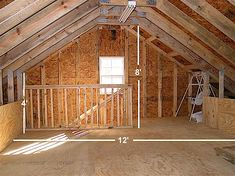 Car Garage With Top  Knee Wall Loft Apartment