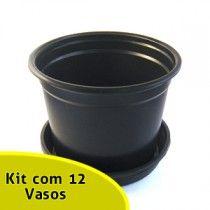 Pote Holambra NP15 com Pratinho - Kit com 12