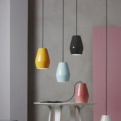 The Bell series by Northern Lighting consists of shiny porcelain pendant lights. The pure beauty of archetype forms was the inspiration for these creations by designer Mark Braun.