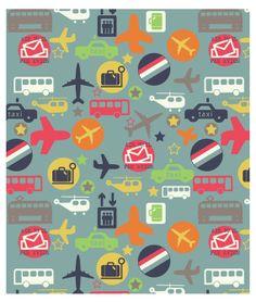 par avion, pattern by Jillian Phillips