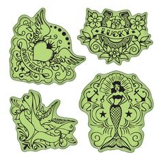 Shop for Inkadinkado Stamping Gear Tattoos - vintage tattoos. Get free delivery On EVERYTHING* Overstock - Your Online Scrapbooking Shop! Time Tattoos, Tattoo You, American Graffiti, Classic Tattoo, Flash Art, Tattoo Stencils, American Traditional, Ink Stamps, Vintage Parts