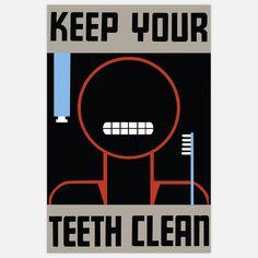 Retro American Prints: Keep Your Teeth Clean