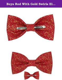 Boys Chocolate Hearts Clip On Cotton Bow Tie Bowtie