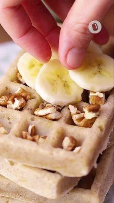 Muesli, Crepes, Food Videos, Waffles, Vegetarian Recipes, Breakfast, Vegan, Dinner, Banana