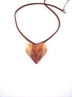 Wooden Heart Pendant Wood Jewelry Wooden Pendant by GatewayAlpha, $15.95