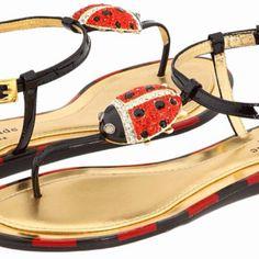 Kate Spade ladybug sandals I want these BAD!!