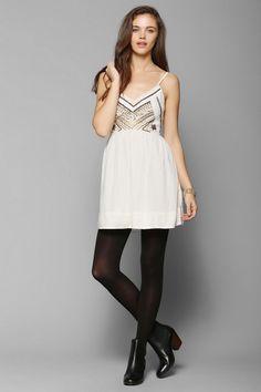 Ecote Rowan Embellished Fit & Flare Dress