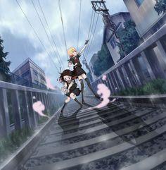 asagiri aya and yatsumura tsuyuno (mahou shoujo site) Anime Films, Anime Characters, Dark Site, Ghibli Movies, Kawaii Anime Girl, Aesthetic Anime, Magical Girl, Yandere, Draw