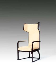 Josef Hoffmann; #667 Bent Beech and Plywood Armchair for J. & J. Kohn, c1905.