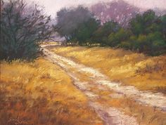 "Morning Mist XII by Jeri Salter Pastel ~ 11"" x 14"""
