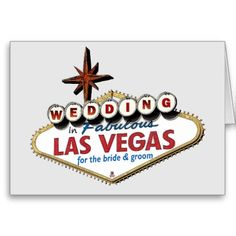Wedding in Fabulous Las Vegas Bride & Groom Card