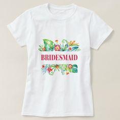 Tropical   Bridesmaid Destination Wedding T-Shirt