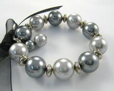 elegant beaded bracelets | Elegant Pearl - Chunky Bead Bracelet
