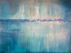 """New work available soon!! """"Lake Impression #?? - Urban Micro-Climates"""", 2016, 48x36, acrylic, dye, plaster compound. #wjcontemporary"""