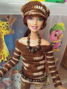 Вязание для шарнирных барби / Barbie: коллекционные и игровые куклы Барби / Бэйбики. Куклы фото. Одежда для кукол