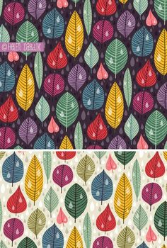 Fall leaves pattern. By orange you lucky! / Helen Dardik #pattern