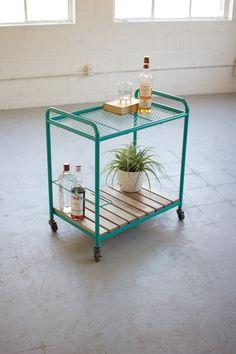 Numéro 9 Iron & Wood Bar Cart