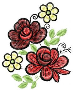All Time Best Embroidery Machines Making Embroidery Easier Ideas. Floral Embroidery Patterns, Hand Embroidery Tutorial, Rose Embroidery, Learn Embroidery, Free Machine Embroidery Designs, Custom Embroidery, Embroidery Stitches, Flower Pots, Flowers
