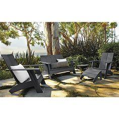 Emmet Sofa & Chairs in Grey - Outdoor - Room & Board
