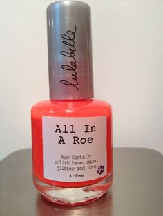 All In A Roe is the newest color in the Neon Collection by Lulabelle! A beautiful neon orange, there's nothing fishy about All In A Roe! Matte without top coat, All In A Roe is the perfect neon orange, sure to amp up your summer!
