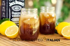 Jack's Tennessee Sweet Tea serves 1 2 ounces Jack Daniels Tennessee Whiskey 2 ounces fresh lemon juice 1 tablespoon honey 4 ounces Coke in a mason jar or tea glass, combine whiskey and lemon juice. Add honey and stir until honey is dissolved. Make sur Tea Cocktails, Party Drinks, Fun Drinks, Cocktail Recipes, Alcoholic Drinks, Beverages, Alcohol Recipes, Tea Recipes, Drink Recipes