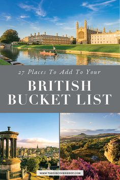 The Ultimate Great Britain bucket… Unmissable United Kingdom Travel Destinations. The Ultimate Great Britain bucket list. London, Cornwall, Scotland and much more. Plus insider tips. Bucket List Destinations, Europe Destinations, Travel List, Travel Deals, Vacation Deals, Travel Hacks, Travel Essentials, Funny Travel, Budget Travel