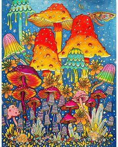 Coucou les colocopines  Voici mes champignons enneigés  du fabuleux livre d Hannah Karlzon Summer Nights  prismacolors + posca blanc, noir et bleu irisé  En espérant qu'il vous plaise ❄ #coloringoninstagram #beautifullcoloring  #hannakarlzondagdrömmar #summernights  #hannakarlzon  #hannakar  #hannakarlzonsummernights  #coloriage #coloringbooks #coloring #colour #colouring #coloriagezen #coloring #coloriagepourad #arttherapie #adultcoloringbook #