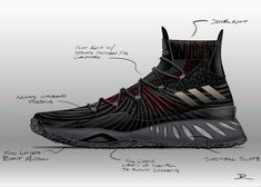 Interview // Inside The adidas Crazy Explosive Design With Jesse Rademacher Adidas Shoes, Shoes Sneakers, Sneakers Sketch, Shoe Sketches, Mens Skechers, Shoe Pattern, Sneaker Boots, Custom Sneakers, Shoe Game