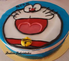 Dulces felicidades: Tarta Doraemon fondant