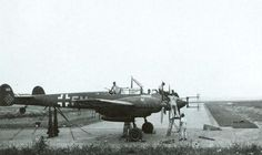 """Bf 110 operating in St.Trond, Belgium. The aircraft is an elderly Bf110D-3 G9+FM from 4./NJG 1 which has been retrofitted with FuG 202 radar.The first four FuG 202 radars which were delivered to operational units entered service with II./NJG 1 in February 1942. It is very possible this AC was one of them. The 110 was also retrofitted with DB 601N engines identified by the large white """"N"""" on the engine cowling. This marking was needed because the DB 601N engines required higher octane fuel…"""
