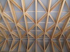 Image 8 of 19 from gallery of Småbruk: Pocket Farm in Nes / Scarcity and Creativity Studio. Courtesy of Scarcity and Creativity Studio Tectonic Architecture, Wood Architecture, School Architecture, Timber Roof, Timber Buildings, Bamboo Structure, Timber Structure, Eco Casas, Bamboo Roof