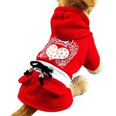 Gold+Dot+Crown+Loving-heart+Print+Hoodie+Dress+Coat+for+Pets+Dogs+(Assorted+Sizes)+-+USD+$+19.49