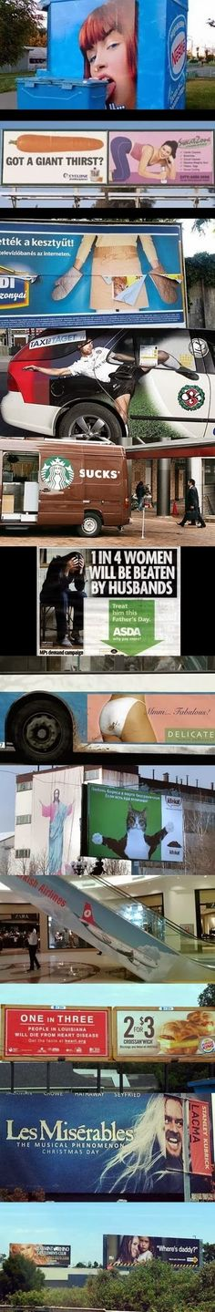 Funny ad placements