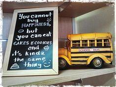 """""""...cannot buy happyness but you can eat cookies & cakes, and it's kinda the same thing"""" ;)"""