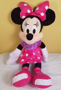 """Disney Minnie Mouse 23"""" Plush Doll Large 2015 Edition Collectable Stuffed #Disney  Great deals sales Plush Dolls, Minnie Mouse, Games, Toys, Disney Characters, Activity Toys, Stuffed Toys, Stuffed Dolls, Clearance Toys"""