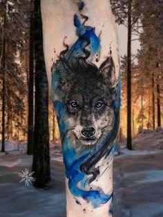 Cool wolf tattoo design ideas suitable for you who loves spirit animal 18 #NeatTattoosIWouldHave