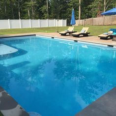 This 1000 sq ft pool with a spa and wet deck is ready for a warm spring! It will stay warm with a cover pools automatic safety cover when the nights get a little cooler.
