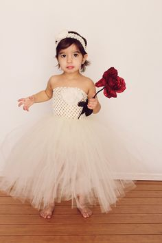 Baby Girl Flower Girl Dress by Squeezables on Etsy, $65.00
