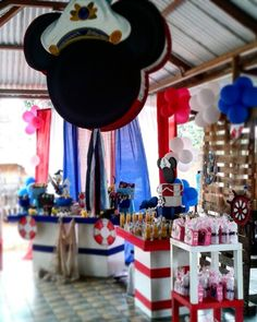 #centerpieces #centrodemesa #mickeymarinero #mickeyparty #mickey #sailormickey  #decoraciones #maracaibo #party #ideas
