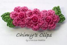 Items similar to Romantic Rose Handmade French Hair Clip Crochet Flowers on Etsy Crochet Hair Clips, Crochet Bows, Crocheted Flowers, Crochet Hair Styles, Diy Crochet, Crochet Crafts, Crochet Projects, Crochet Earrings, Crochet Craft Fair
