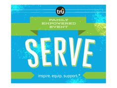 Serve Family Empowered Event is an interactive, inter-generational family event you can host anytime, anywhere! Serve focuses on equipping families to serve together within their community.