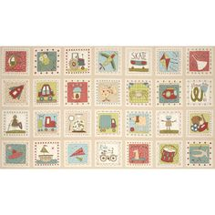 About A Boy About A Girl Blocks Boy Taupe from @fabricdotcom  Designed by Anni Downs of Hatched and Patched for Henry Glass, this fabric is perfect for quilting, apparel and home decor accents. Colors include rouge, teal, green, brown and taupe. Sold by the panel which measures 24''X 44''.