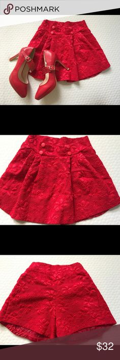 BUNDLED ITEMS‼️PRICE IS FIRM‼️ RED SHORT SKIRT AND RED SHOES IT'S A PERFECT MATCH.YOU'll just have to wear a fishnet stocking with an off shoulder top or crop top.The short skirt it can be stretch a little it's a size SMALL.It can be XS too.The short skirt size is approximately 12 to 14 inches,length 12 inches then the width is 19 inches.I wear it once and the shoes it's just stock in my closet and I didnt wear it outside I just try it on inside because it doesn't fit well on me.I bought…