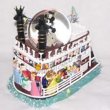 disney river boat snow globe