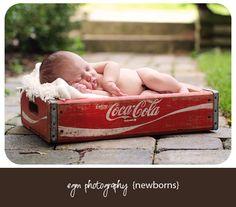 Newborn Photography, Coca Cola newborn, outdoor newborn pictures, newborn pictures, outdoor newborn photos