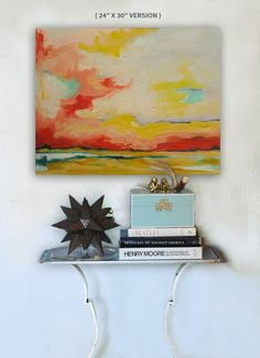 """Image of  """"Charisma"""" { 12""""x12 $95 & """"24"""" x 30"""" $525} Abstract Landscape of pink clouds.  http://hillarybutler.bigcartel.com/product/charisma-12-x12-24-x-30"""
