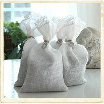 Lavender filled lacy sachet bags.
